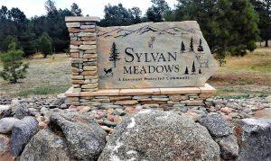 Sandblasted stone sign