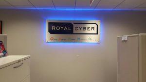 Royal Cyber - Indoor Backlit Lobby Sign